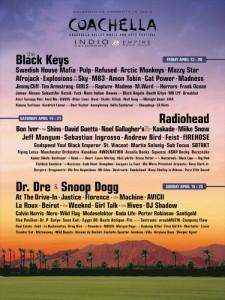 2012 Coachella Festival on April 13 - 15 and April 20 - 22 (Empire Polo Club, Indio)