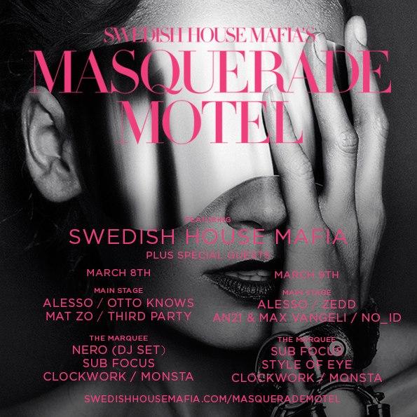 Swedish House Mafia's Masquerade Motel Lineup