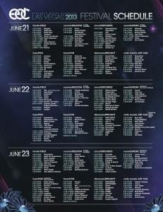 EDC Las Vegas 2013 Set Times
