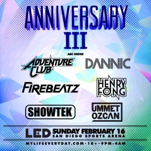 LED Anniversary - February 16 (San Diego Sports Arena, San Diego)