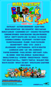Mad Decent Block Party - Los Angeles and San Diego Dates