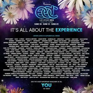 EDC Las Vegas 2014 Lineup