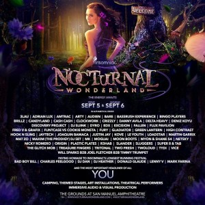 Nocturnal Wonderland - September 5 & 6 (San Manuel Amphitheater, San Bernardino)
