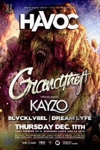 Grandtheft & Kayzo - December 11 (Yost Theater, Santa Ana)