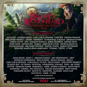 Beyond Wonderland 2015 - March 20-21 (e San Manuel Amphitheater, San Bernardino)