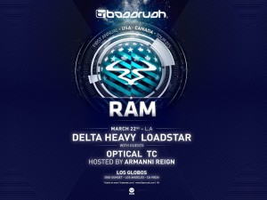 BASSRUSH presents Delta Heavy, Loadstar, Optical, and TC - March 22 (Los Globos, Los Angeles)