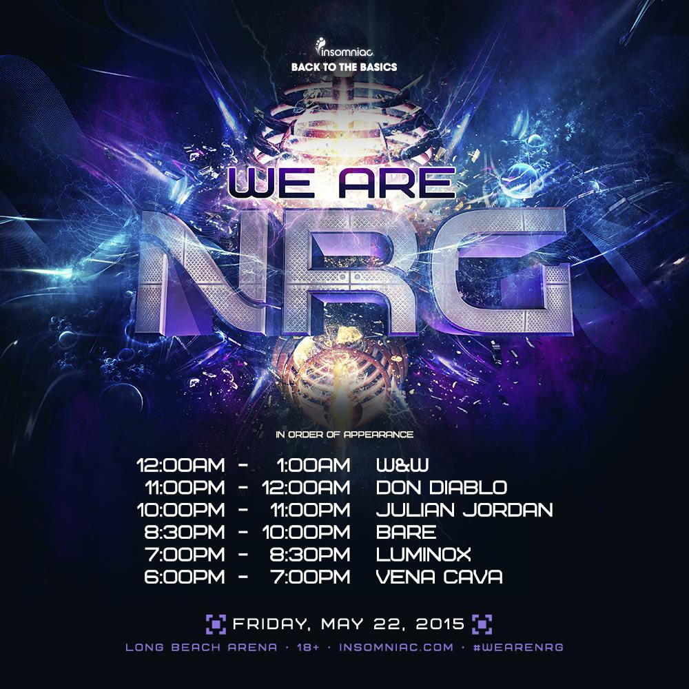 We Are NRG - May 22 (Long Beach Arena)