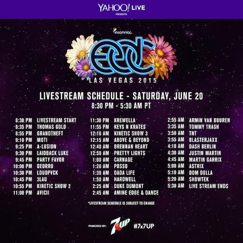 EDC Las Vegas 2015 Live Stream June 20