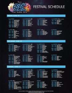EDC Las Vegas 2015 Set Times and Festival Map