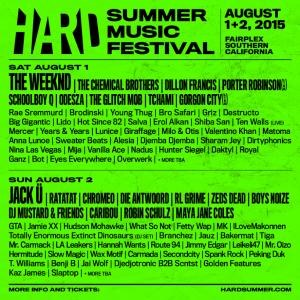 HARD Summer 2015 Lineup