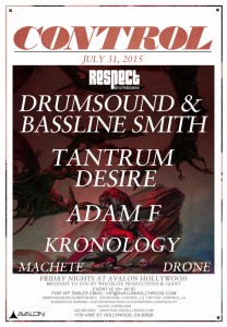 Drumsound & Bassline Smith, Tantrum Desire, & Adam F - July 31 (Avalon, Hollywood)