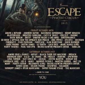 Escape- Psycho Circus - October 30 & 31 (NOS Events Center, San Bernardino)