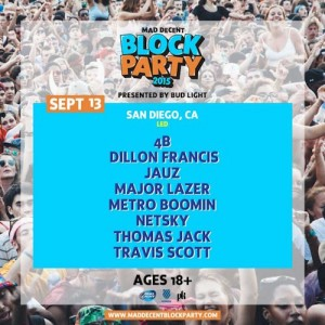 Mad Decent Block Party - San Diego & Los Angeles (September 13, 19-20)