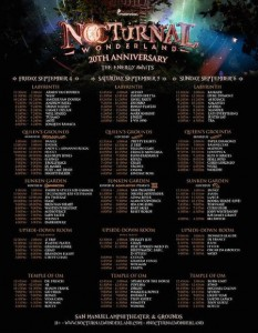 Nocturnal Wonderland 2015 Lineup