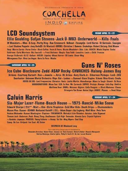 2016 Coachella Lineup