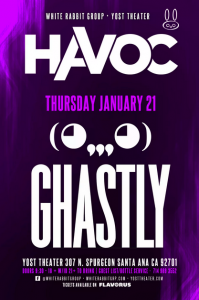 Ghastly - January 21 (Yost Theater, Santa Ana)