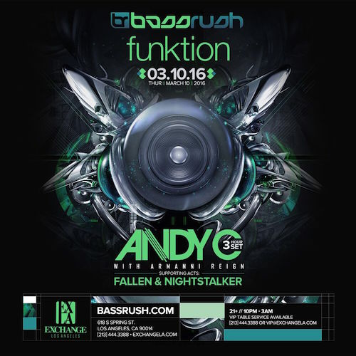 Andy C - March 10 (Exchange, Los Angeles)
