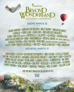 Beyond Wonderland - March 18 & 19 (San Manuel Amphitheater, San Bernardino)