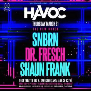 SNBRN, Dr. Fresch, & Shaun Frank - March 31 (Yost Theater, Santa Ana)