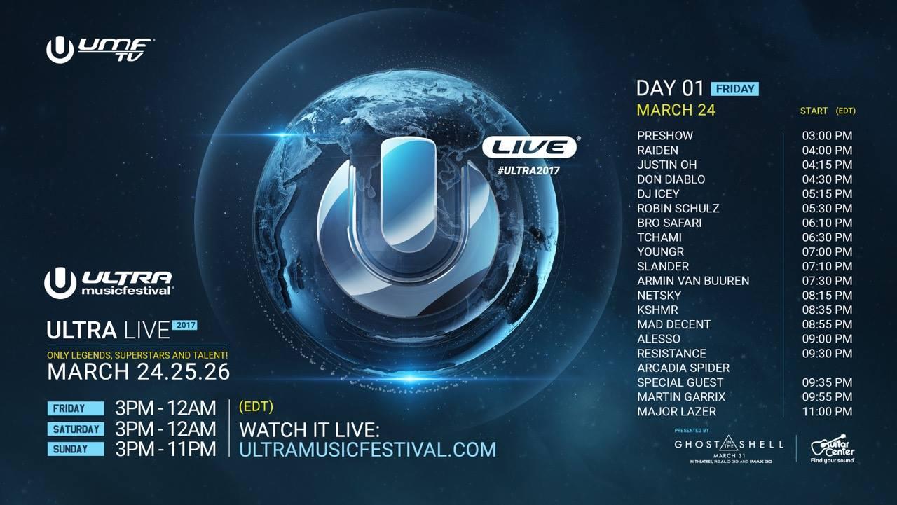 Ultra Music Festival Miami 2017 Live Stream Day 1