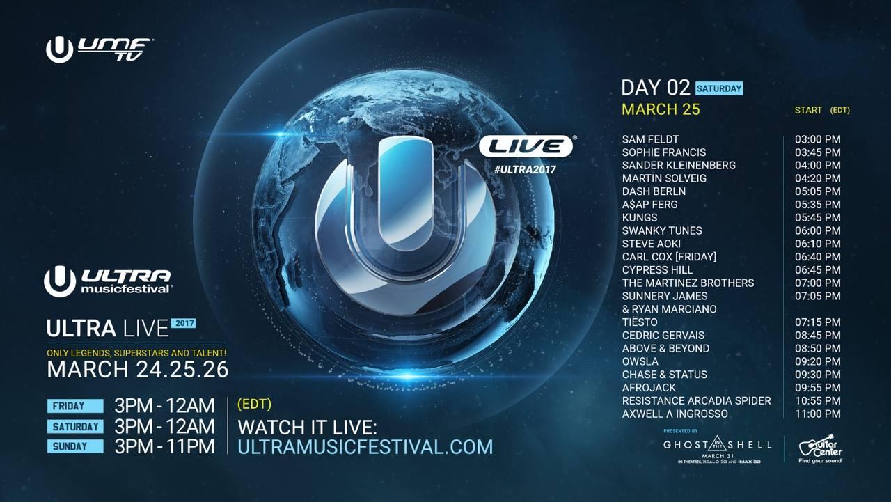 Ultra Music Festival Miami 2017 Live Stream Day 2