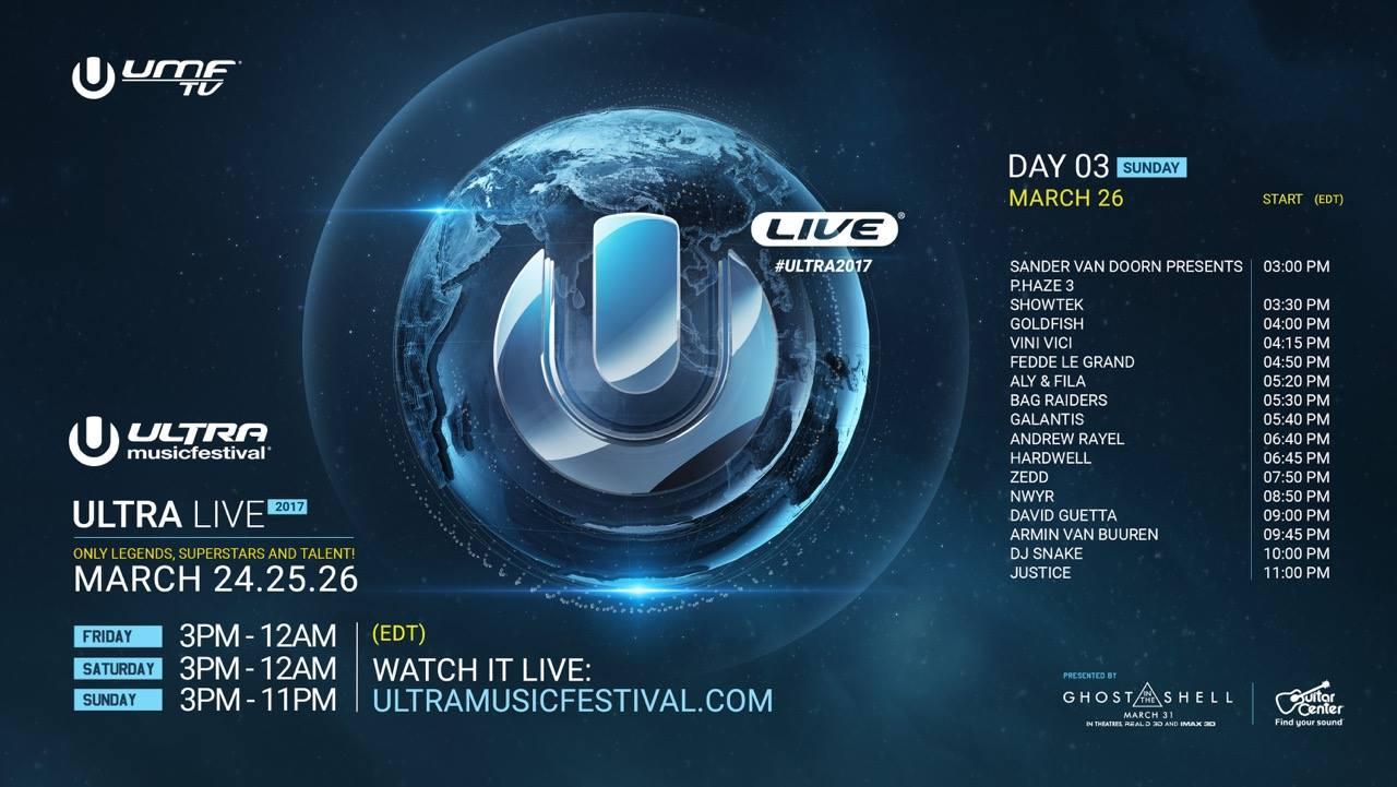 Ultra Music Festival Miami 2017 Live Stream Day 3