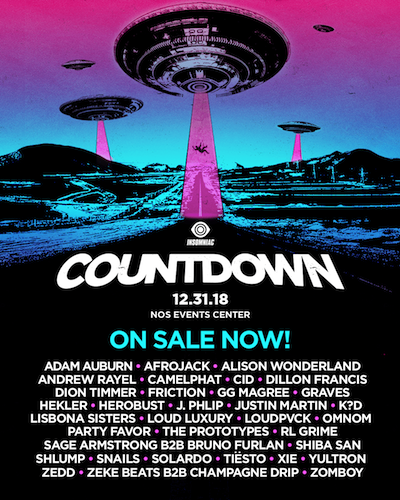 Countdown NYE 2018 - December 31 (NOS Events Center, San ...